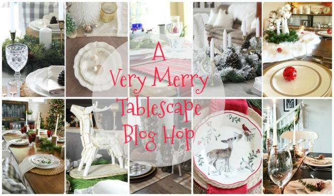 blog hop, christmas decor, christmas tablescape, tablescape